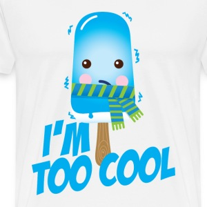 Comic too cool ice cream vintage character with scarf for hot sunny summer or freezing cold winter snow weather t-shirts Hoodies & Sweatshirts - Men's Premium T-Shirt