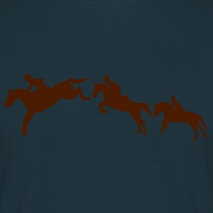 equitation cavalier2 cheval obstacle sau Sweat-shirts - T-shirt Homme