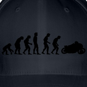 motorcycle evolution T-shirts - Flexfit baseballcap