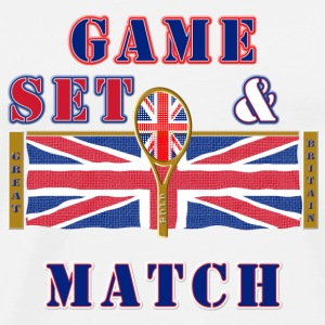 Great Britain tennis game set match Caps & Hats - Men's Premium T-Shirt