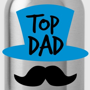 TOP dad with a top-hat mustache or moustache Polo Shirts - Water Bottle