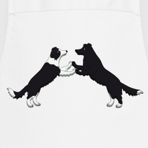 dog dancing pixel Border Collies T-Shirts - Cooking Apron