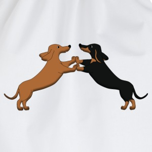 dog dancing teckel pixel T-shirts - Gymtas