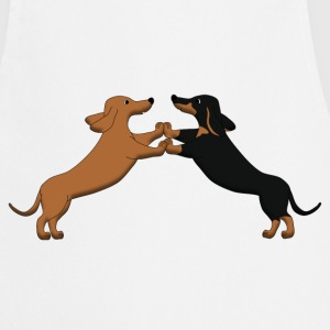 dog dancing teckel pixel Sweaters - Keukenschort
