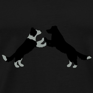 dog dancing Border Collies  Umbrellas - Men's Premium T-Shirt