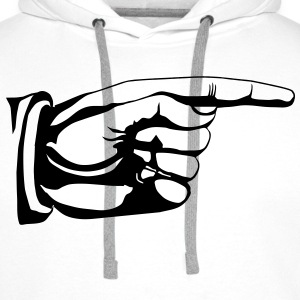 This way old fashioned pointing hand sign Bags  - Men's Premium Hoodie