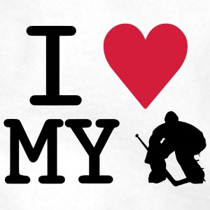 I Love My Goalie Water Bottle - Men's Premium Hoodie