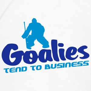 Goalies Tend To Business Water Bottle - Men's Premium T-Shirt