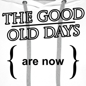 'The good old days' Klassisk T-shirt herr - Premiumluvtröja herr