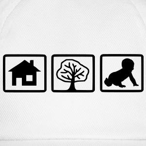 house_tree_child1 - Baseballkappe