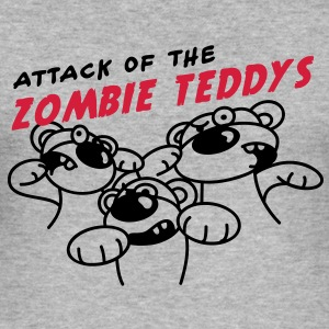 Attack of the Zombie Teddy Tröjor - Slim Fit T-shirt herr