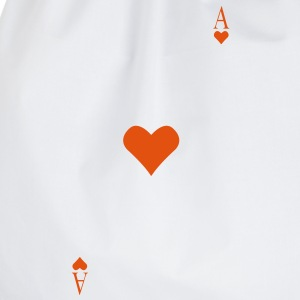 Ace of Hearts op je borst  T-shirts - Gymtas