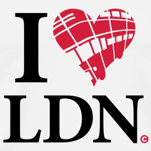 i_love_lnd_2c_bus Bottles & Mugs - Men's Premium T-Shirt