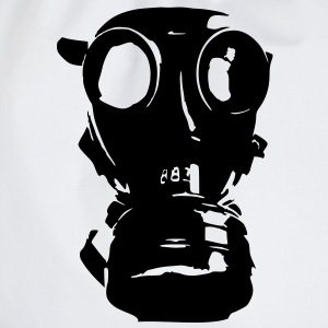 gas mask, skull, skull, respiratory protection, Bundeswehr - Drawstring Bag