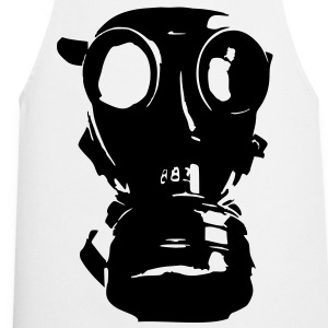 gas mask, skull, skull, respiratory protection, Bundeswehr - Cooking Apron