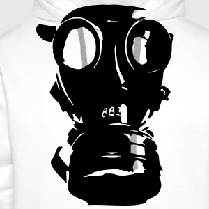 gas mask, skull, skull, respiratory protection, Bundeswehr - Men's Premium Hoodie