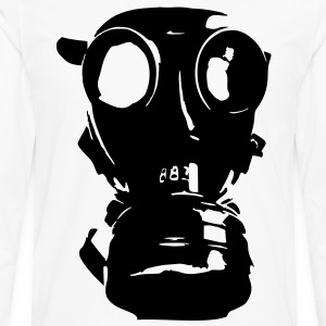 gas mask, skull, skull, respiratory protection, Bundeswehr - Men's Premium Longsleeve Shirt