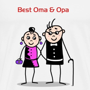 Best Oma & Opa Buttons - Men's Premium T-Shirt