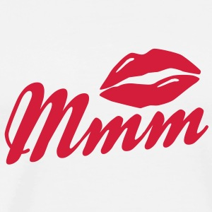 mmm kissing lips Tee shirts manches longues - T-shirt Premium Homme