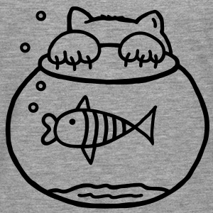 Cat & fish Shirts - Men's Premium Longsleeve Shirt