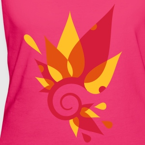 Fantasy leaves on a spiral Bags  - Women's Organic T-shirt