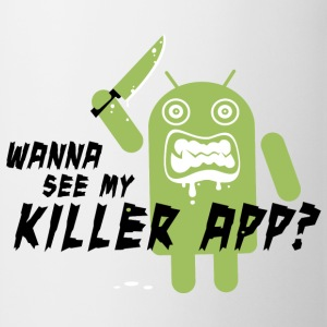Grappig Killer App Android met quote t-shirts for geek chic, online social media kids, back to school university, verjaardag T-shirts - Mok