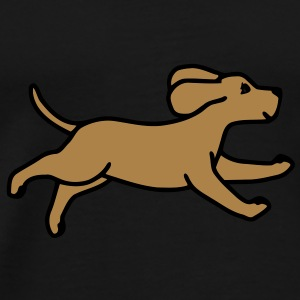 Dog driver Paraply - Premium-T-shirt herr