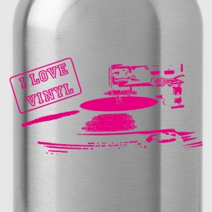 I LOVE VINYL - Water Bottle