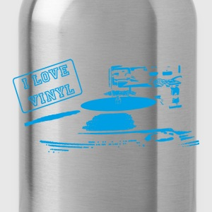 I Love Vinyl _ blue - Water Bottle