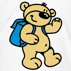 Little Bear goes to school Flasker og krus - Herre premium T-shirt