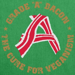 Grade A Bacon - The Cure for Veganism  Aprons - Shoulder Bag made from recycled material