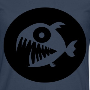 Navy Piranha Jumpers - Men's Premium Longsleeve Shirt