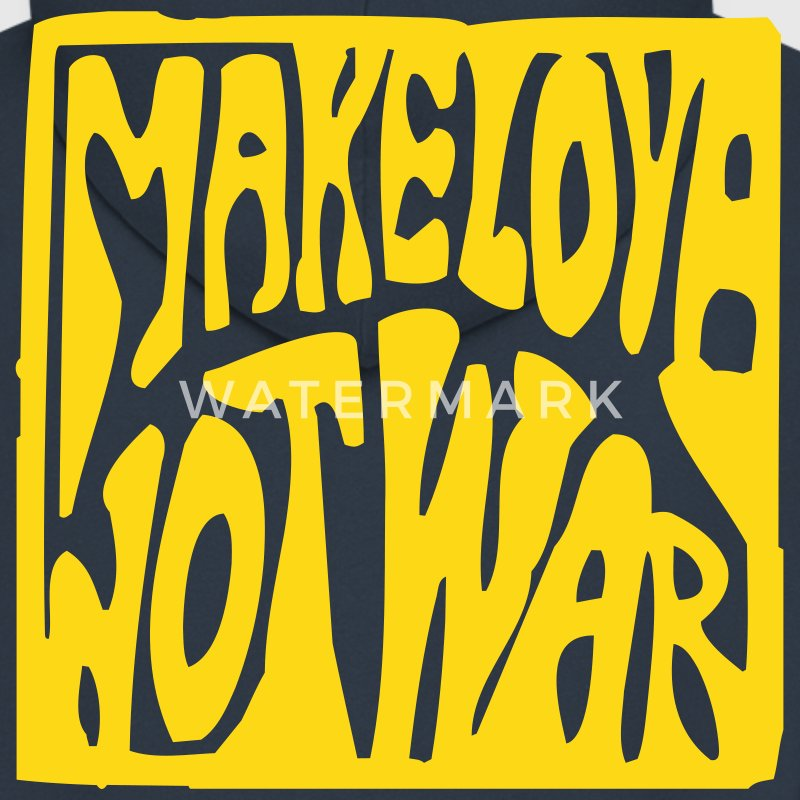 Navy Make love not war Jacke - Männer Premium Kapuzenjacke