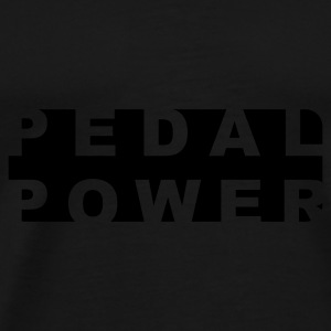 Pedal Power Hat-  Winter - Cycling - Flock Print - Men's Premium T-Shirt