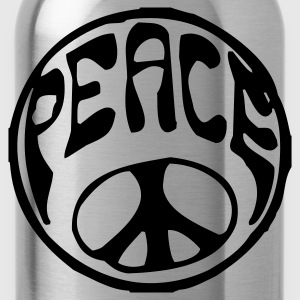 Orange/blau Peace T-Shirt - Trinkflasche