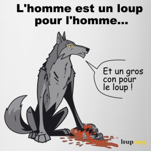 Blanc/rouge homme-loup Hommes - Tasse