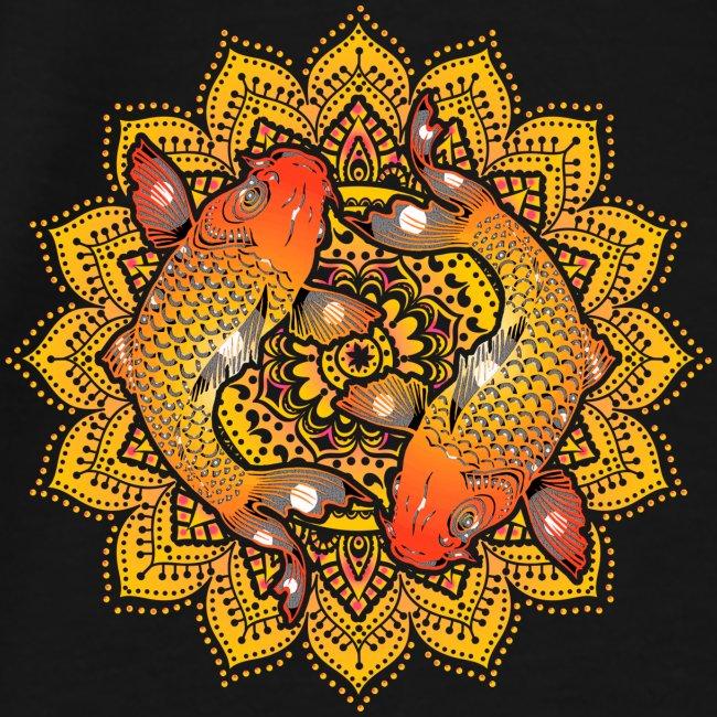 Asian Pond Carp - Koi Fish Mandala 2