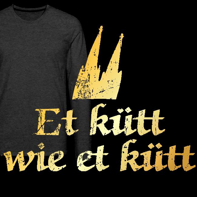 """Köln Spruch """"Et kütt wie et kütt"""" (Vintage Goldgelb) Kölsche Sprüche"""