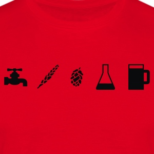 Beer Ingredients  Aprons - Men's T-Shirt