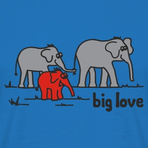 Rot Big Love Pullover - Männer T-Shirt