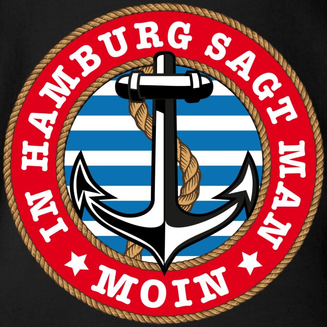 In Hamburg sagt man Moin Anker Seil Shirt 77