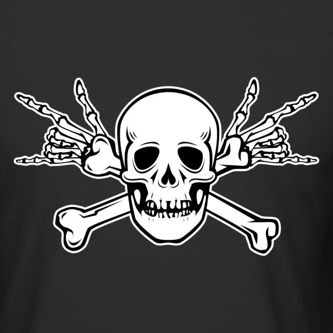 Deaf Skull with ILY Handsign