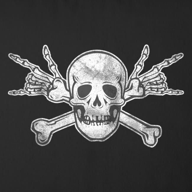 Deaf Skull with ILY Handsign Vintage