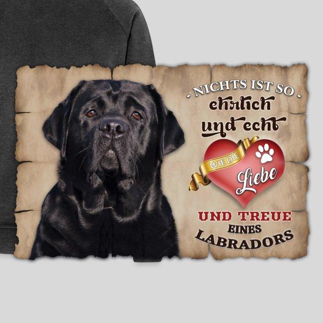 Schwarzer Labrador Retriever Liebe & Treue