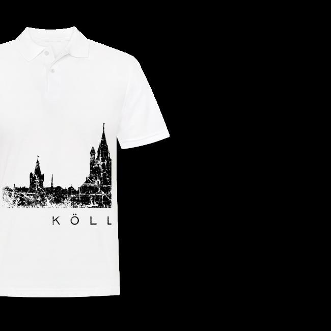Kölle am Rhing Skyline (Vintage Schwarz) Köln am Rhein