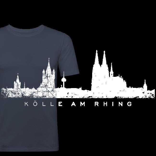 Kölle am Rhing Skyline (Vintage Weiß) Köln am Rhein