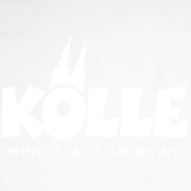 Kölle ming Stadt am Rhing (Weiß) Köln am Rhein Kölner Design