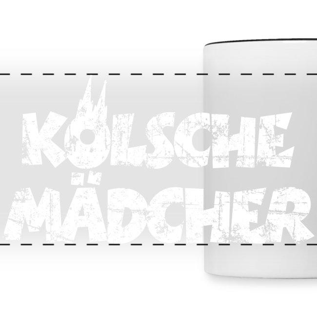 Kölsche Mädcher (Vintage Weiß) Kölner Mädchen aus Köln