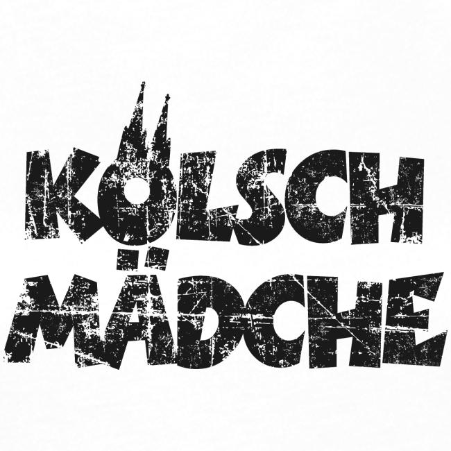Kölsch Mädche (Vintage Schwarz) Mädchen und Frauen aus Köln