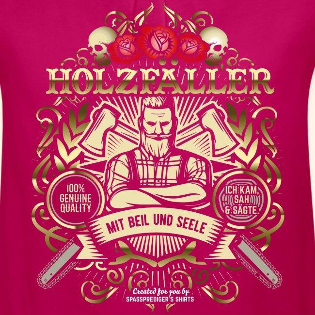 Holzfäller T Shirt mit Beil und Seele